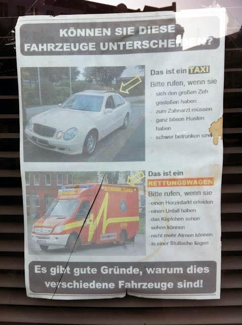 Krankenwagen Berlin Taxi