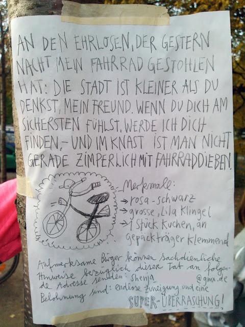 Fahrraddieb Kreuzberg Berlin