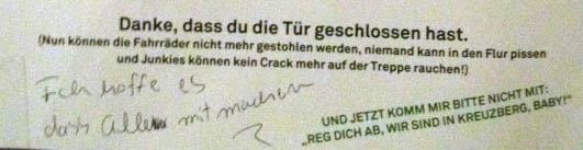 Dumme Nachbarn Berlin