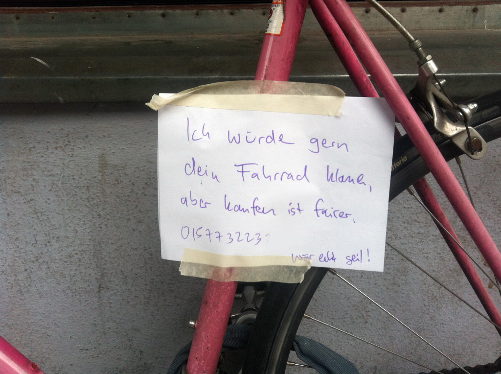 NOBR (wuerd ich auch gern machen)_Kreuzkoelln_le-gus_Kommentar the ethics of stealing a bike-b