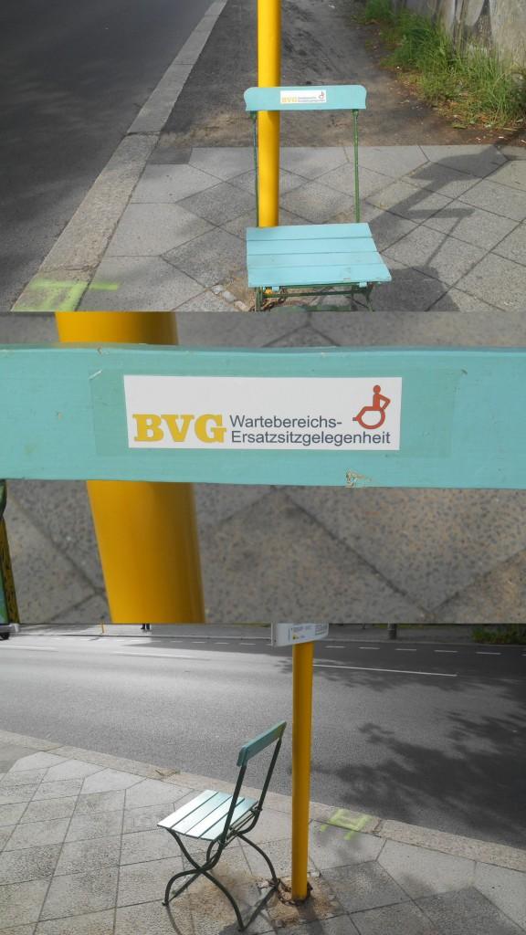 BIG AA Haltestelle Retzbacher Weg_Pankow_Wiebke_Kommentar neue Haltestelle vor meiner Haustuer nachdem das Wartehaeuschen einer Strassenverbreiterung zwecks Verkehrsinsel weichen musste