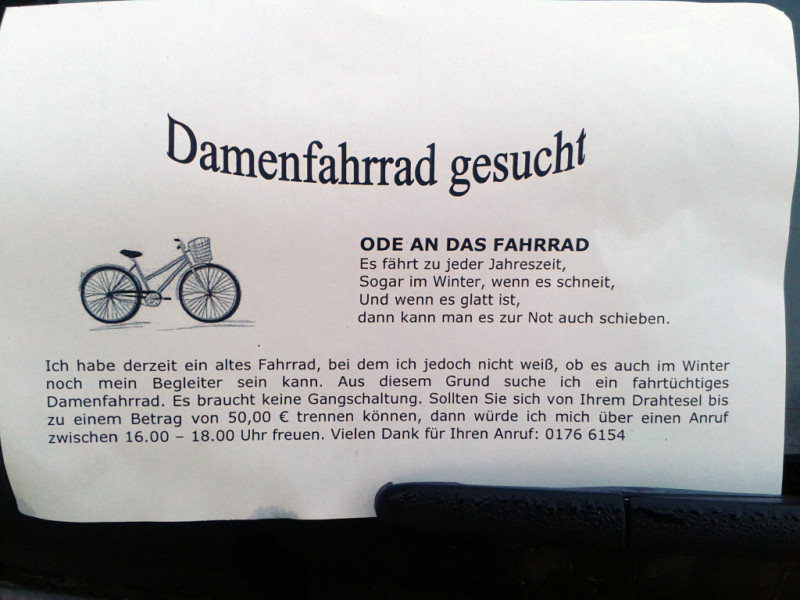 ode an das fahrrad notes of berlin. Black Bedroom Furniture Sets. Home Design Ideas