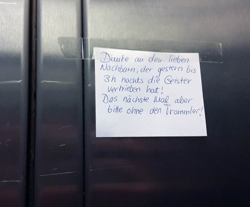 Geister-Trommel-Berlin-Nachbarn