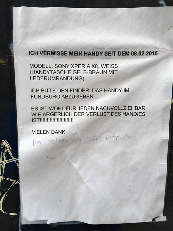 Handy verloren in Berlin