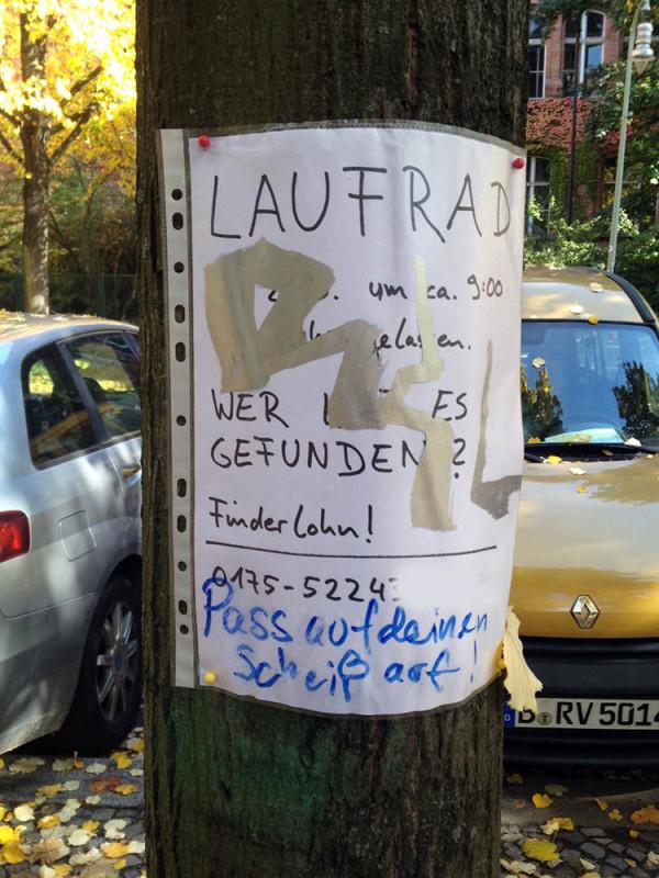 Laufrad verloren-Berlin