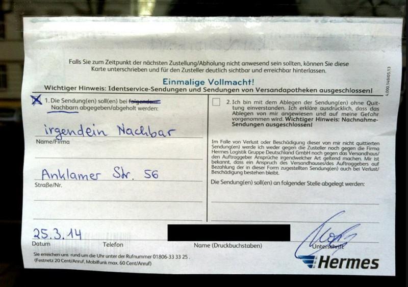 Hermes Postboten Berlin