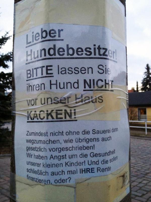 Hundebesitzer Berlin Hundescheisse Kinder Hundekacke