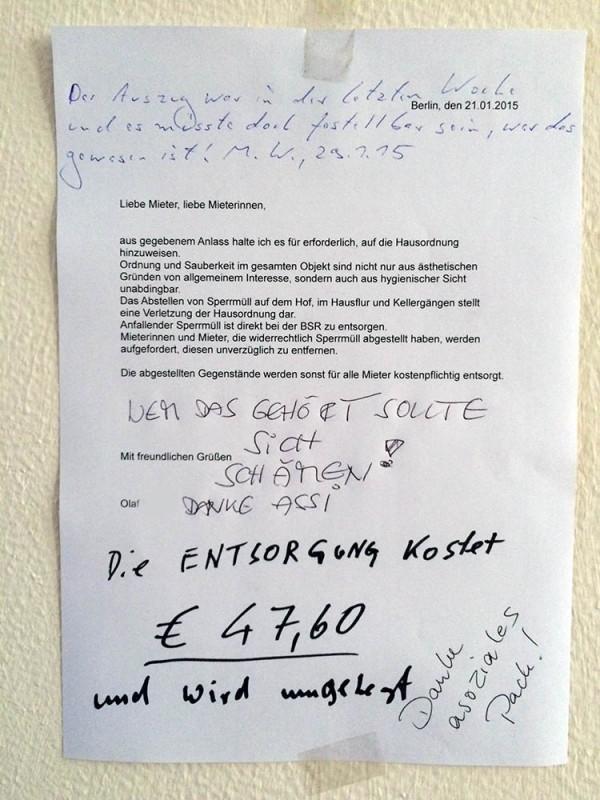 Muell-Entsorgung Berlin Mieter Kosten