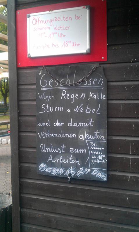Regen in Berlin - Kein Bock zu arbeiten