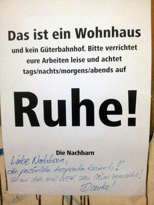 Ruhe Laerm Laermbelaestigung Berlin Wohnhaus