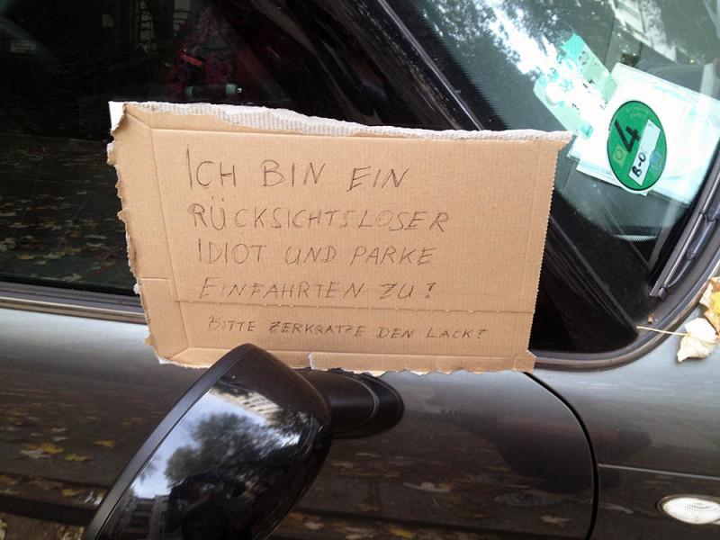 Auto falsch geparkt Berlin