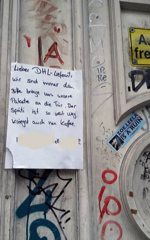 DHL Bote Berlin Lieferant
