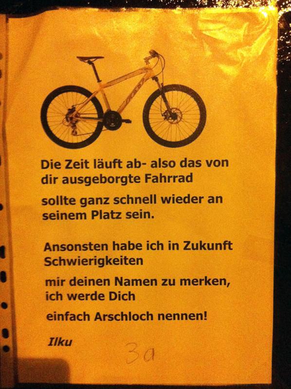 Fahrraddieb Berlin Prenzlauer Berg