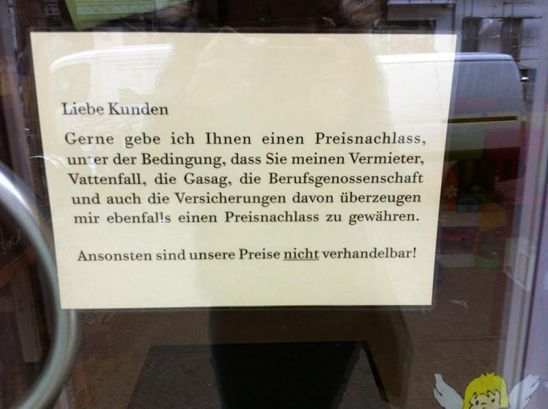 Preisnachlass Berlin Kinderladen