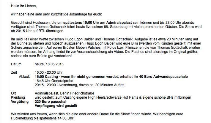 Thomas Gottschalk Geburstagsfeier Berlin 65