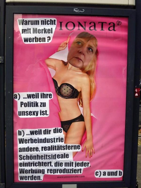 Adbusting Angela Merkel
