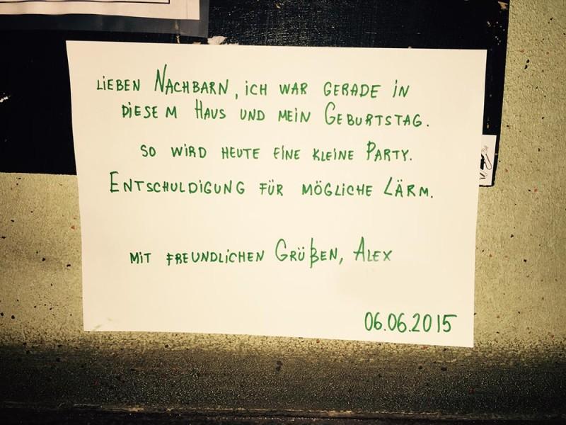 Geburtstagsparty in Berlin