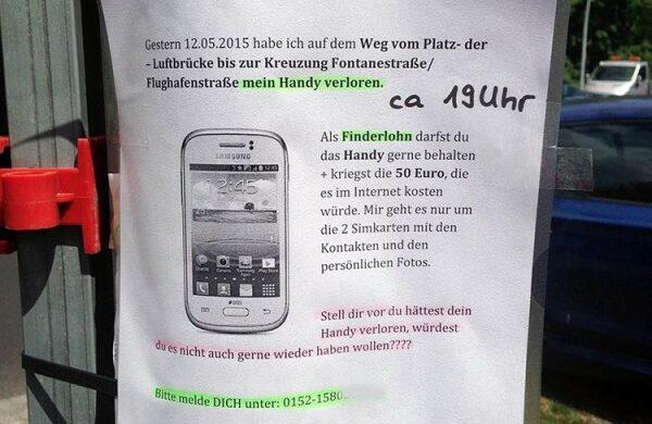 Handy verloren Berlin