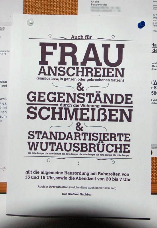 Laute Nachbarn Nachbarschaft Berlin