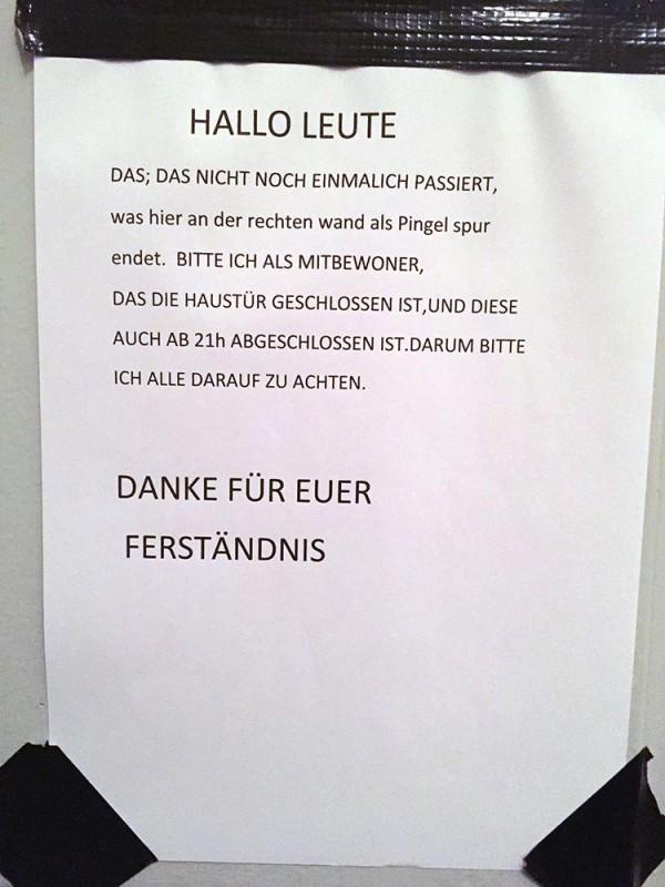 Tür abschließen Nachbarn Berlin