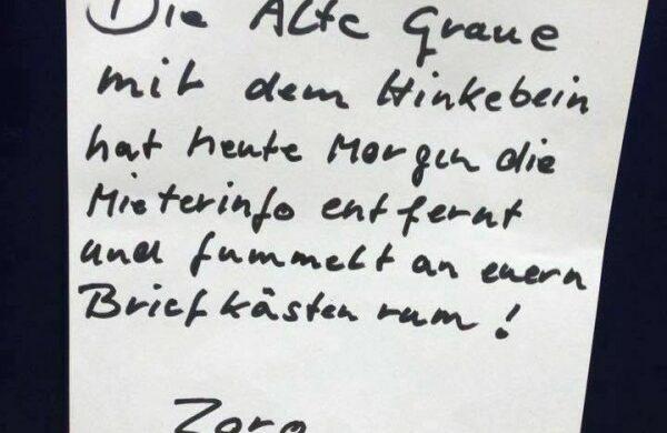 Gestörte Nachbarn Berlin