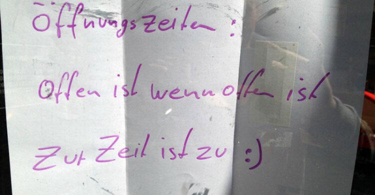 Öffnungszeiten Berlin