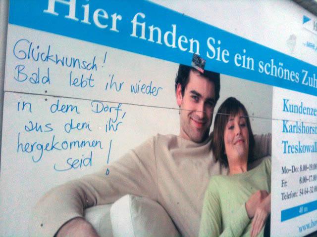 Zugezogene aus dem Dorf Berlin
