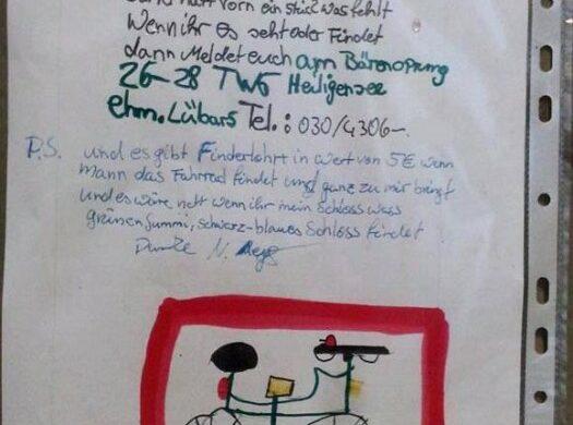 KInderrad gestohlen Berlin