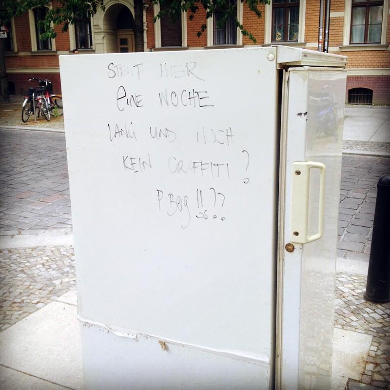 Kühlschrank auf der Straße Berlin