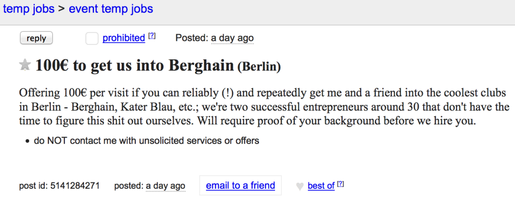 Berghain how to get in