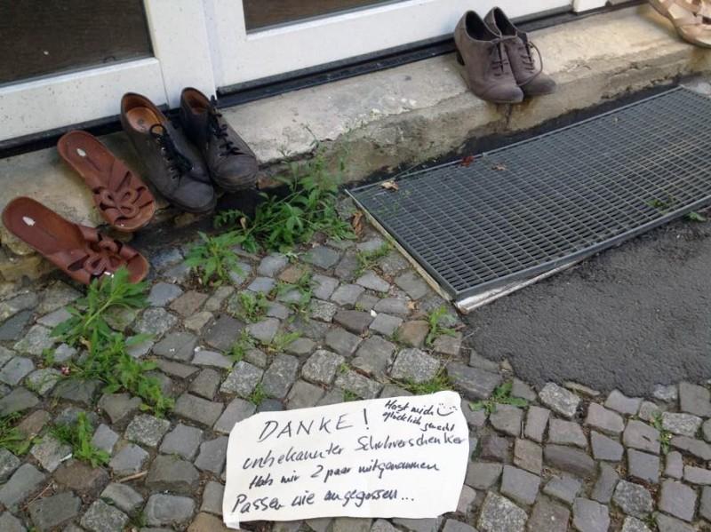 Schuhe zu verschenken