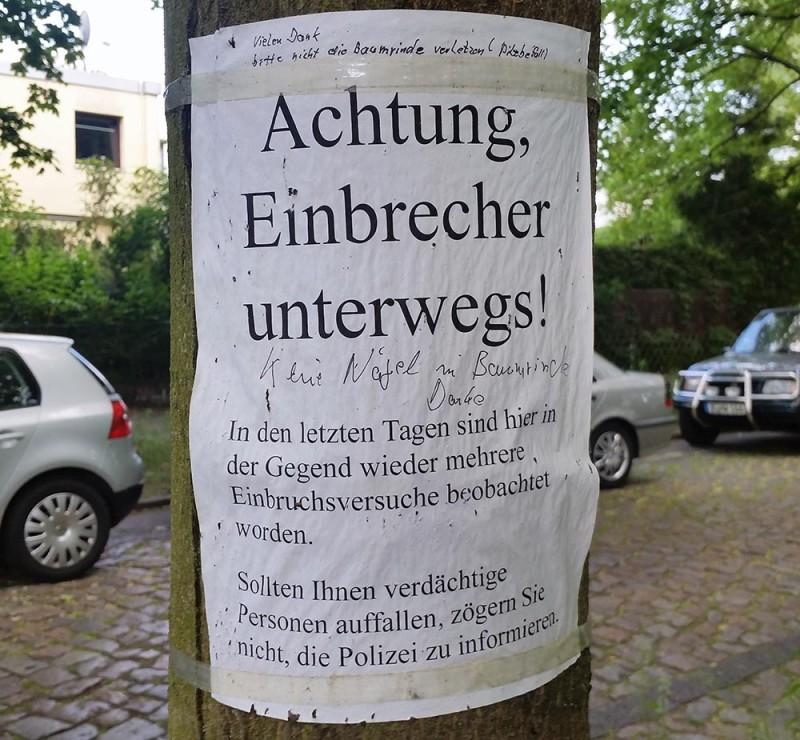 Achtung Einbrecher in Berlin