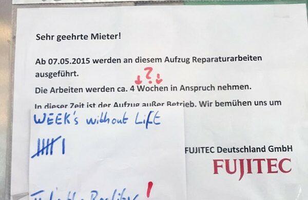 Aufzug kaputt Berlin