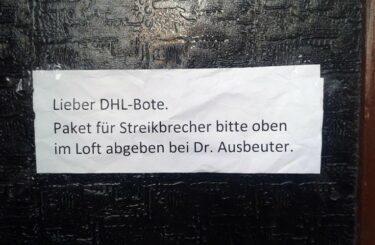 DHL Bote Poststreik