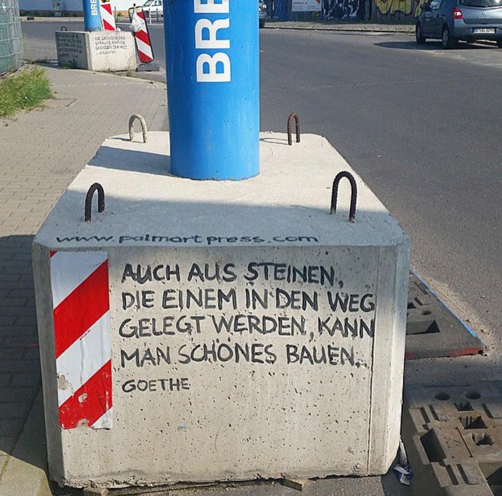 Goethe Zitat Berlin Street Art