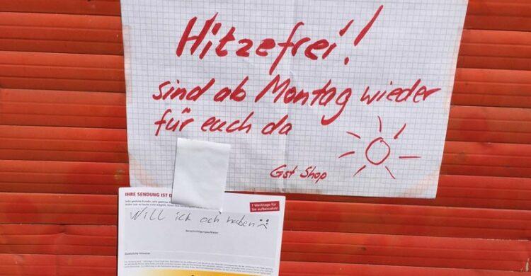 Hitzefrei in Berlin Laden geschlossen