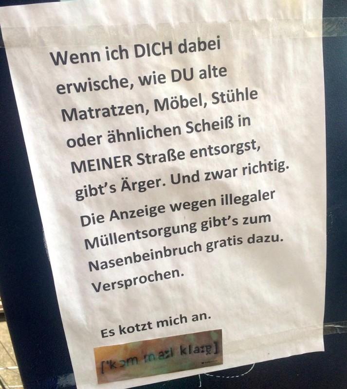 Muellentsorgung Berlin Auf der Strasse