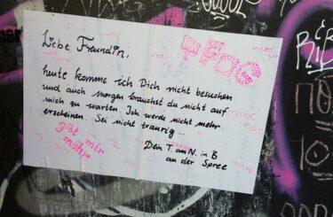 Notes of Berlin Blog Zettel Notizen