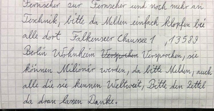 Skurrile Zettel Berlin Berlinblog Notes of Berlin