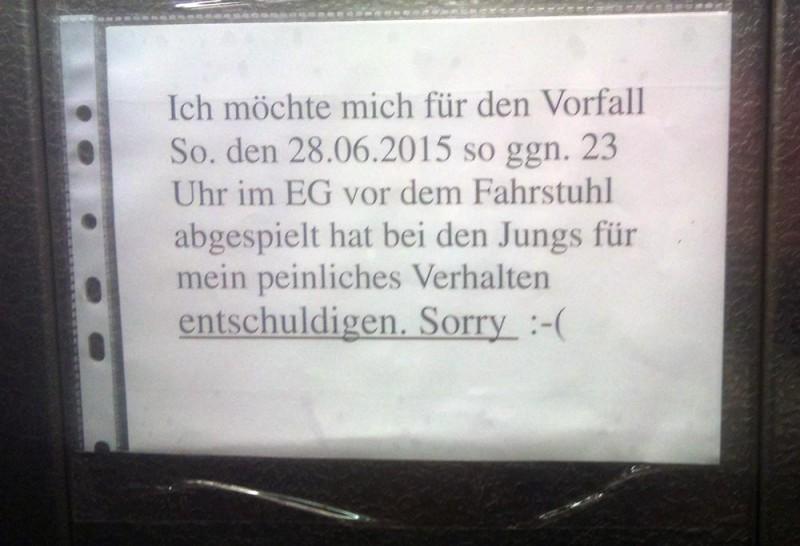 Vorfall im Fahrstuhl Berlin