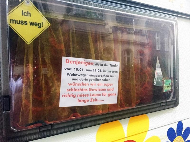 Wohnwagen Einbruch Diebstahl Berlin