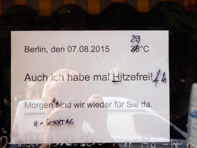 hitzefrei Berlin Urlaub Sommer