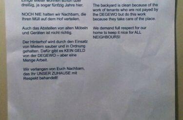 Dreckige Nachbarn Stress mit Nachbarn Hausflur Müll Berlin