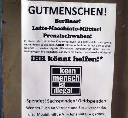 Flüchtlinge Berlin Spenden Anwohner Refugees welcome