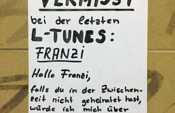 Franziska Berlin Flirten Zettel Aushang Mädchen gesucht