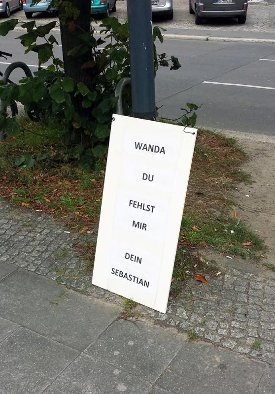 Liebeskummer in Berlin Single sein Liebesbotschaft in der Stadt Liebesbrief