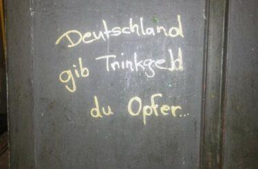 Trinkgeld geben in Deutschland Berlin