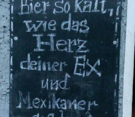 Bier so kalt wie das Herz deiner Ex Uschi Berlin Muschi