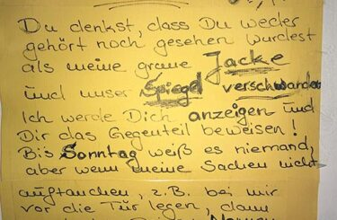 Diebstahl im Haus Wenn Nachbarn klauen Kriminelle Nachbarn Zettel Notes of Berlin