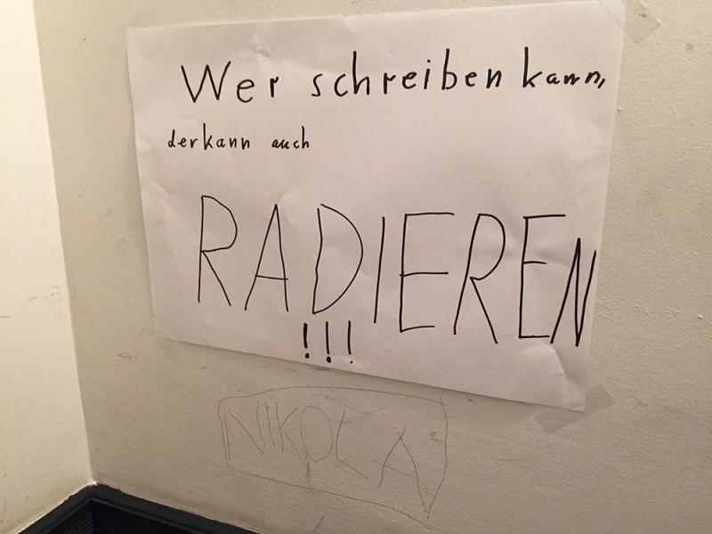 Dummes Gekritzel an der Wand Berlin